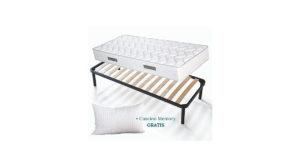 Kit rete e materasso singolo Evergreenweb + cuscino