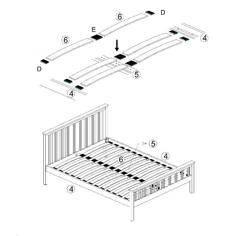 Come assemblare un letto con doghe a molle