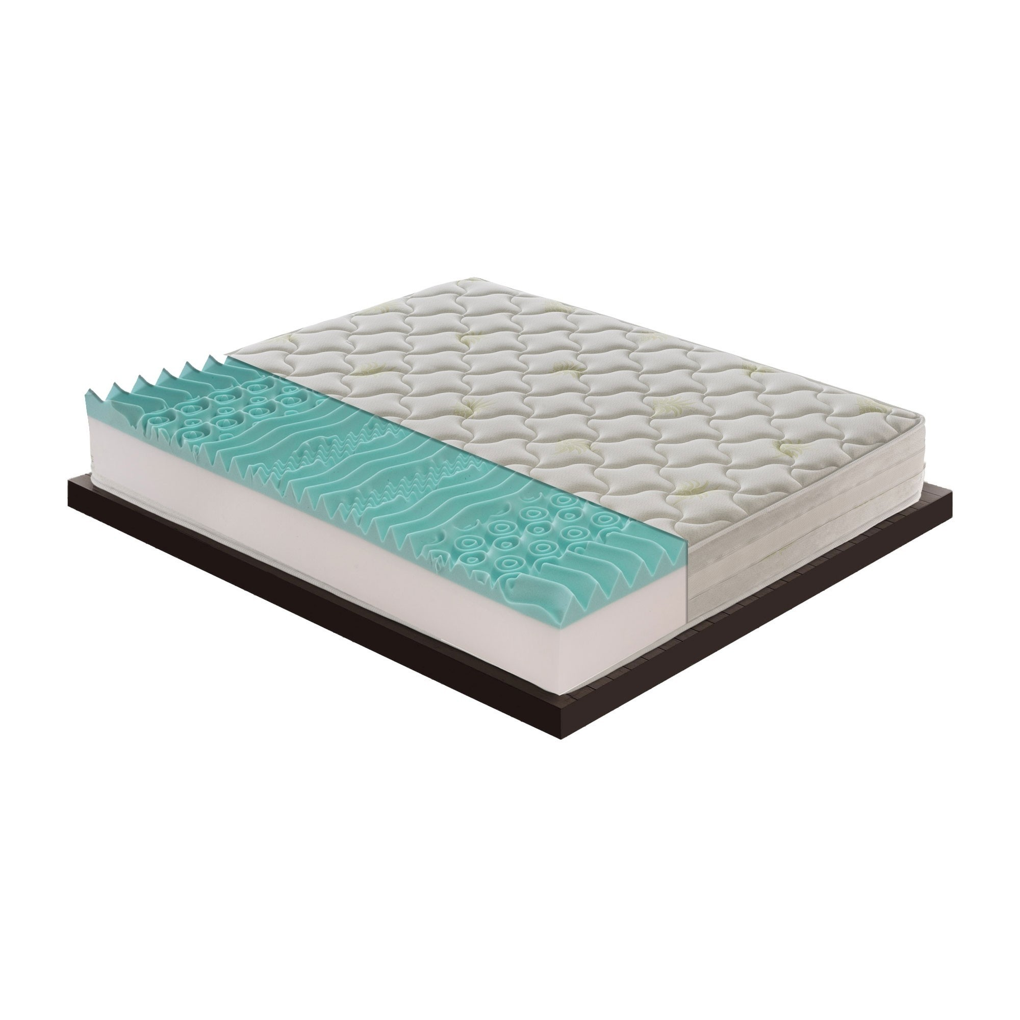 Materasso Ibiza in memory foam Mymemory 9 Zone differenziate tessuto Aloe